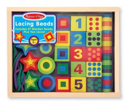 Шнуровка Melissa & Doug Lacing Beads in a Box