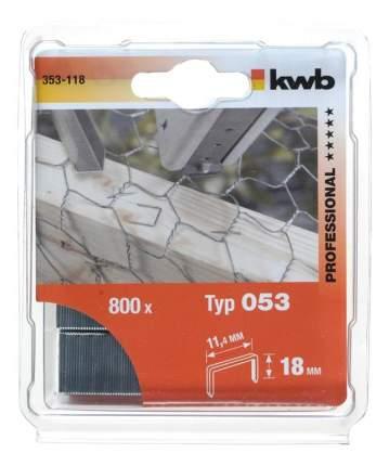 Скобы для электростеплера KWB 353-118