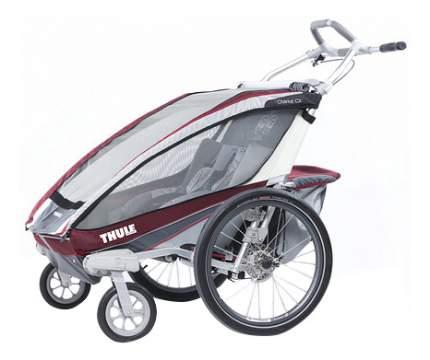 Коляска-велоприцеп Thule для двойни Chariot CX-2 бордовая