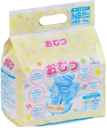 Подгузники для новорожденных Omutsu NB (до 5 кг), 30 шт.