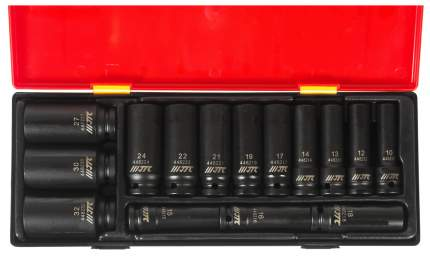 Набор головок торцевых глубоких ударных 6-гранных JTC JTC-K4151 в кейсе 15 шт