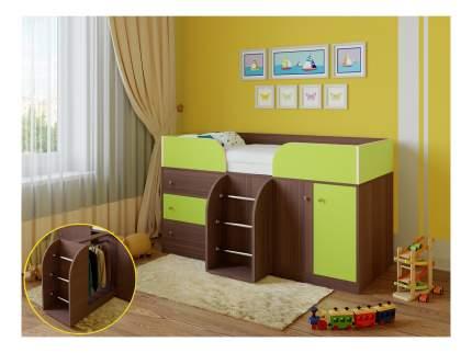 Кровать-чердак РВ мебель Астра 5 дуб шамони/салатовый