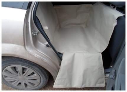 Автогамак для перевозки собак с мягкой защитой дверей 1/2 сидения(бежевый)