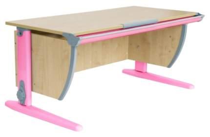 Парта Дэми СУТ-15-01 с двумя задними приставками Клен Розовый 75х55 см