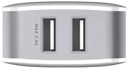 Сетевое зарядное устройство Baseus Letour 2 USB 2,4A White Grey