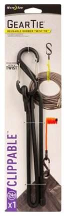 "Карабин с хомутом Nite Ize Gear Tie Clippable Twist Tie 24"" GLC24-01-R3 Black"