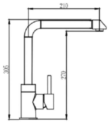 Смеситель для кухонной мойки Seaman SSN-3028 Stylus 395369 хром