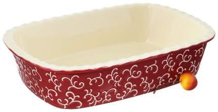 Форма керамическая ТМ Appetite прямоугольная 30х22х7,5 см Красный
