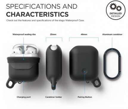 Чехол Elago Waterproof Hang Case для AirPods (Black)