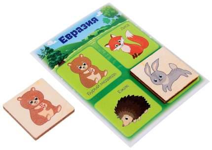 """Настольная игра для малышей """"Лото"""" - Животные  Лесная мастерская"""