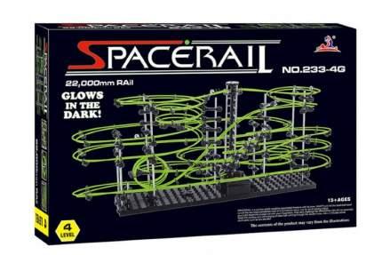 Динамический конструктор Космические горки, светящиеся рельсы, уровень 4 SpaceRail 233-4G