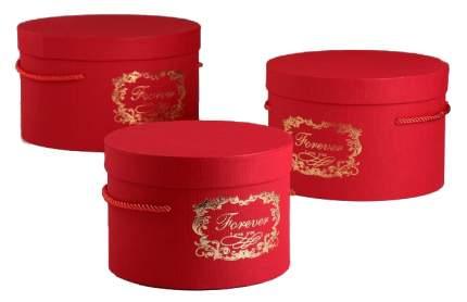 Набор коробок 3в1, красный, 25 х 25 х 15 - 19 х 19 х 13 см Sima-Land
