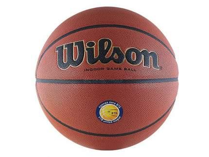 Мяч баскетбольный Wilson Solution VTB 24, 7, коричневый