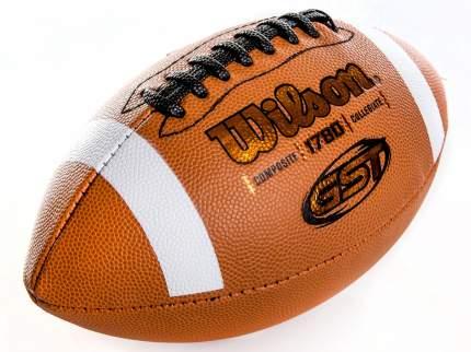 Мяч для американского футбола Wilson GST Official Composite, оранжевый