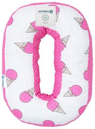 Подушка Крошка Я буква О 35х24 см, розовый