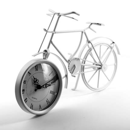 """Часы настольные Miralight """"Велосипед"""" ML-5388 White"""