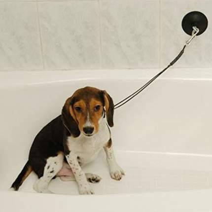 Гибкий шнур-петля на присоске GROOM-X Tub Restraint в ванну, для купания и груминга
