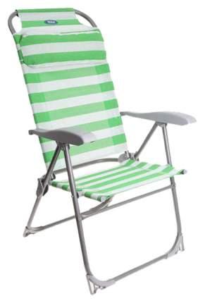 Кресло-шезлонг складное Nika К2 Зеленый/Белый