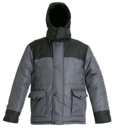 Костюм для рыбалки Huntsman Полюс, серый/черный, 56-58 RU, 180-188 см