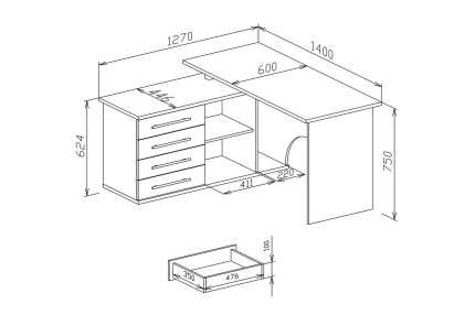 Компьютерный стол Hoff 80285538, коричневый