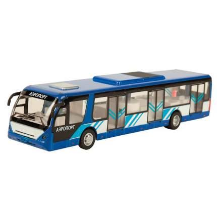 Автобус Технопарк инерционный, металлический со светом и звуком