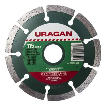 Диск алмазный отрезной универсальный Uragan 36691-115