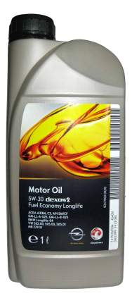 Моторное масло General Motors Dexos2 5W-30 1л