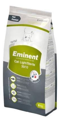 Сухой корм для кошек Eminent Light/Sterile, для стерилизованных, облегченный,курица, 2кг