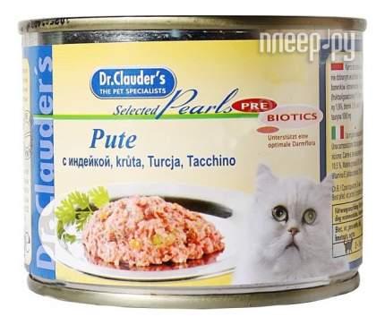Консервы для кошек Dr.Clauder's, индейка, 12шт, 200г