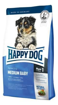 Сухой корм для щенков Happy Dog Supreme Young Medium Baby, для средних пород, птица, 4кг