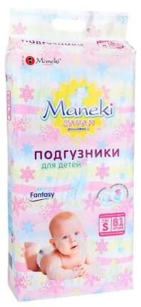 Подгузники Maneki Fantasy S (4-8 кг), 81 шт.