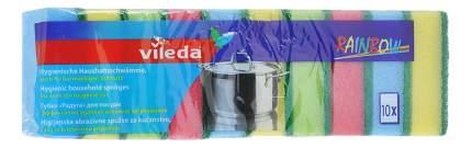 Губка для посуды Vileda Радуга 10 шт