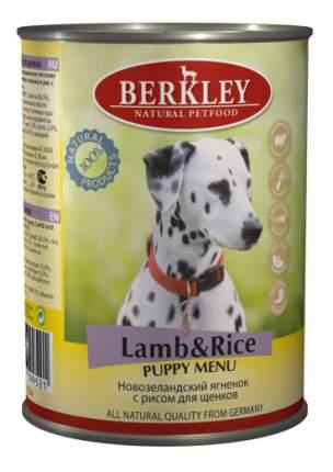 Консервы для щенков Berkley Puppy Menu, ягненок, рис, 400г