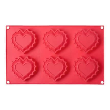Форма для выпечки Walmer Sweet Heart на 6 кексов, W27291825