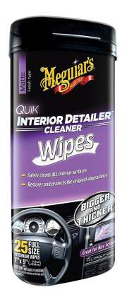 Очищающие салфетки для ухода за салоном Quik Interior Detailer Wipes - Туба 25 шт G13600
