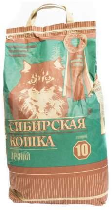 Впитывающий наполнитель для кошек Сибирская кошка Лесной древесный, 6.5 кг, 10 л