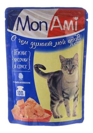 Влажный корм для кошек MonAmi, цыпленок, 100г