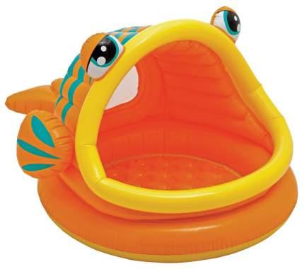 Бассейн надувной INTEX Рыбка с навесом 124х109х71 см (57109)