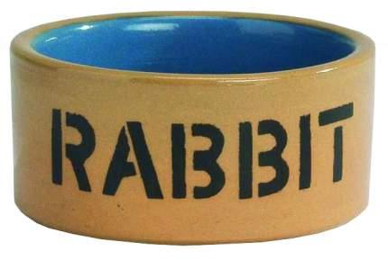 Одинарная миска для грызунов Beeztees, керамика, бежевый, голубой, 0.3 л