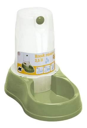 Кормушка-автопоилка для кошек и собак Stefanplast, зеленый, 3.5 л