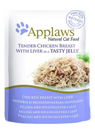 Влажный корм для кошек Applaws, курица, печень, 70г