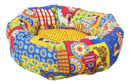 Лежанка для кошек и собак Родные места 50x50x15см желтый, синий, зеленый, коричневый