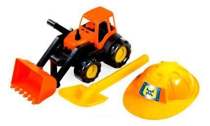 Трактор Zebratoys Трактор c каской и лопатой