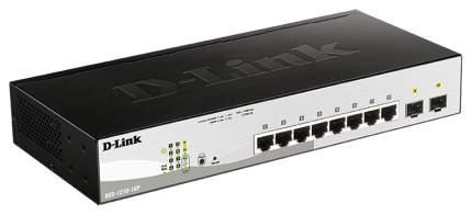 Gigabit Smart III Switch with 8 10/100/1000Base-T PoE ports and 2 1000Base-X SFP ports