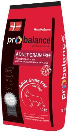 Сухой корм для собак ProBalance Adult Grain Free, птица, 10кг