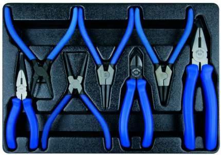 Набор съемников стопорных колец, плоскогубцев и бокорезов KING TONY 7 предметов 9-40207GP