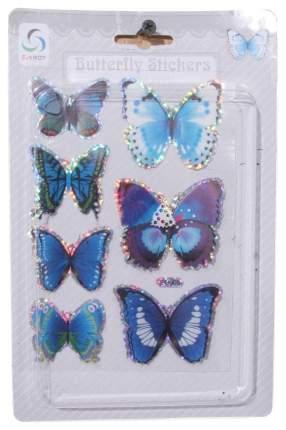 ShiShi Наклейки Зимние Бабочки, 7 шт, сине-голубой 44851
