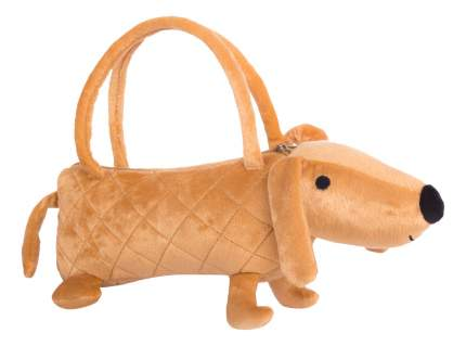 Мягкая игрушка Button Blue Собачка-сумочка коричневая, 35 см