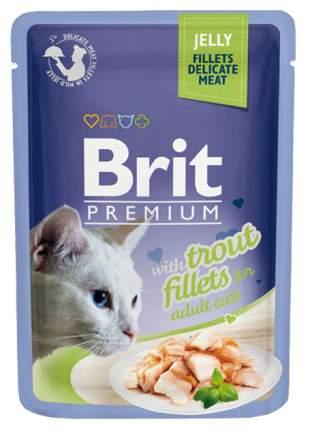 Влажный корм для кошек Brit Premium, форель в желе, 24шт, 85г