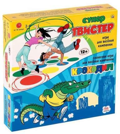 Спортивная настольная игра Рыжий кот Набор игр супер твистер крокодил ИР-5472